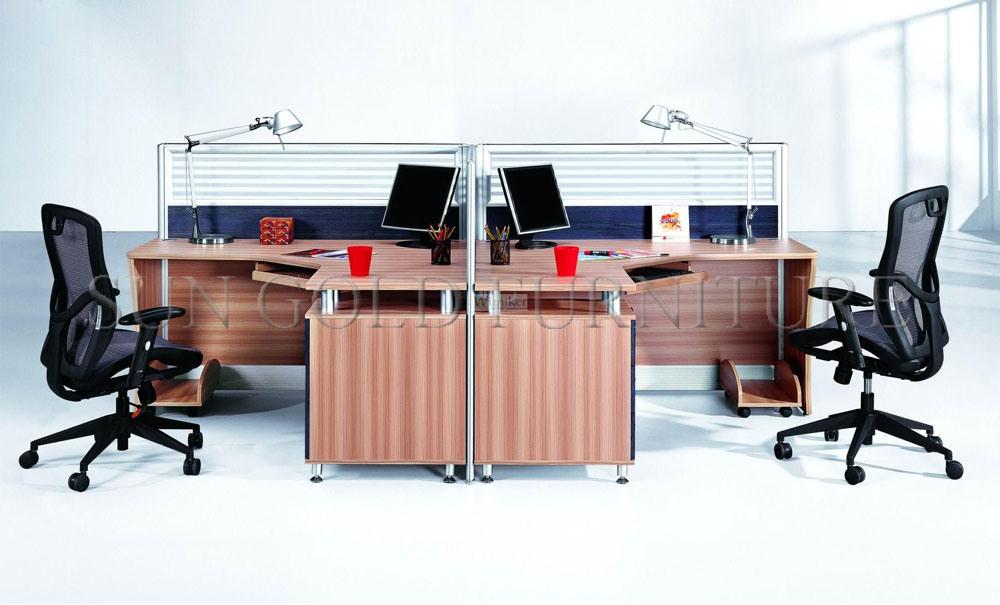2 profils en aluminium de cloison de s paration de bureau de poste de travail de personne sz - Cloison aluminium bureau ...