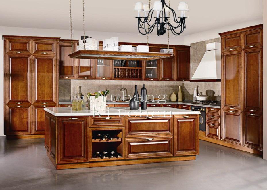 2017 nouvelle conception factory direct armoire de cuisine en bois solide classique 2017 - Direct cuisine ...