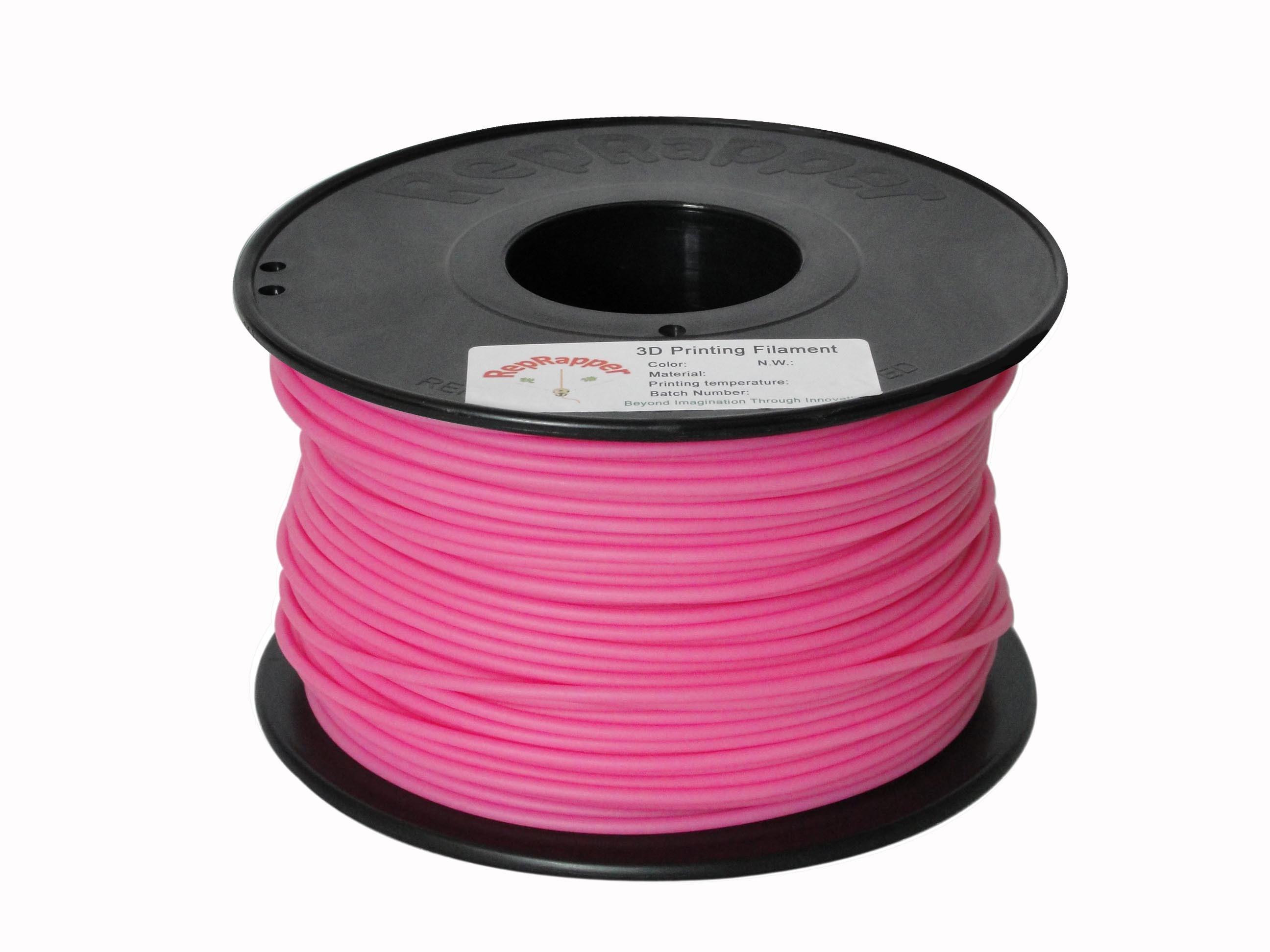 PLA 3,0 mm de filamento de impresión 3D de color rosa para la impresora 3D.