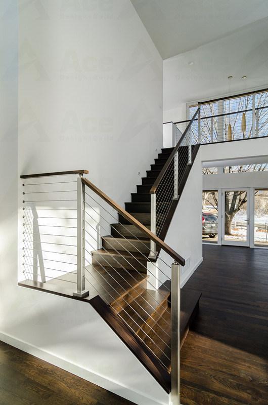 Foto de Modernos interiores Escalera de alambre de acero inoxidable ...