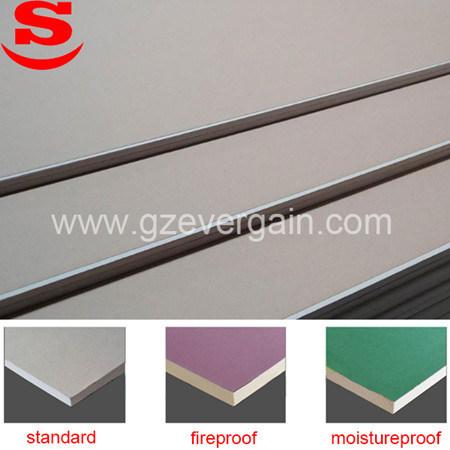 De standaard Vuurvaste Vochtbestendige Drywall van het Plafond Gipsplaat van het Systeem
