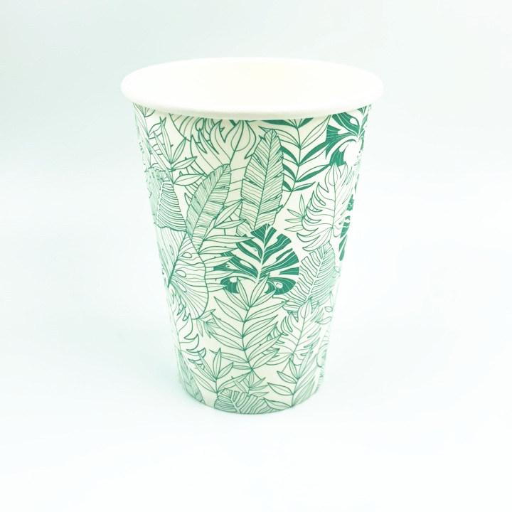 Vaso de papel biodegradable PLA de taza de café caliente de papel Papel expendedoras taza Mug 7oz 6oz Compostable PLA Vending taza de café de papel desechables