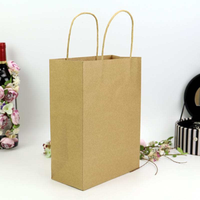 6b16a17f1 Diseño personalizado de compras Imprimir bolsa de papel Kraft Bolsas de asa  retículo
