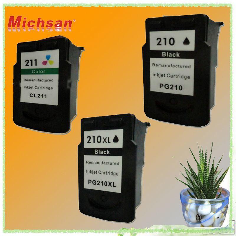 Cartuchos de tinta quente PG-210 / CL-211/PG-210XL/CL-211 (Preto fotográfico &)