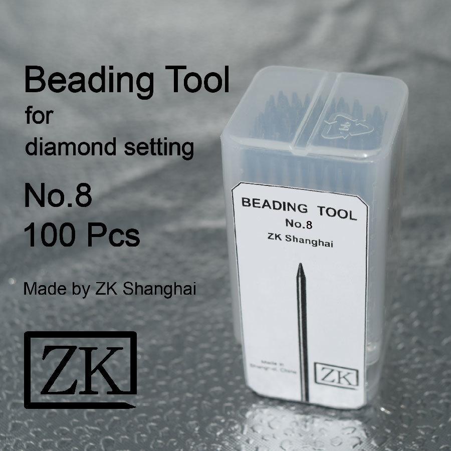 Le perlage Outils - No 8 - 100 pièces - Outils d'établissement de diamant