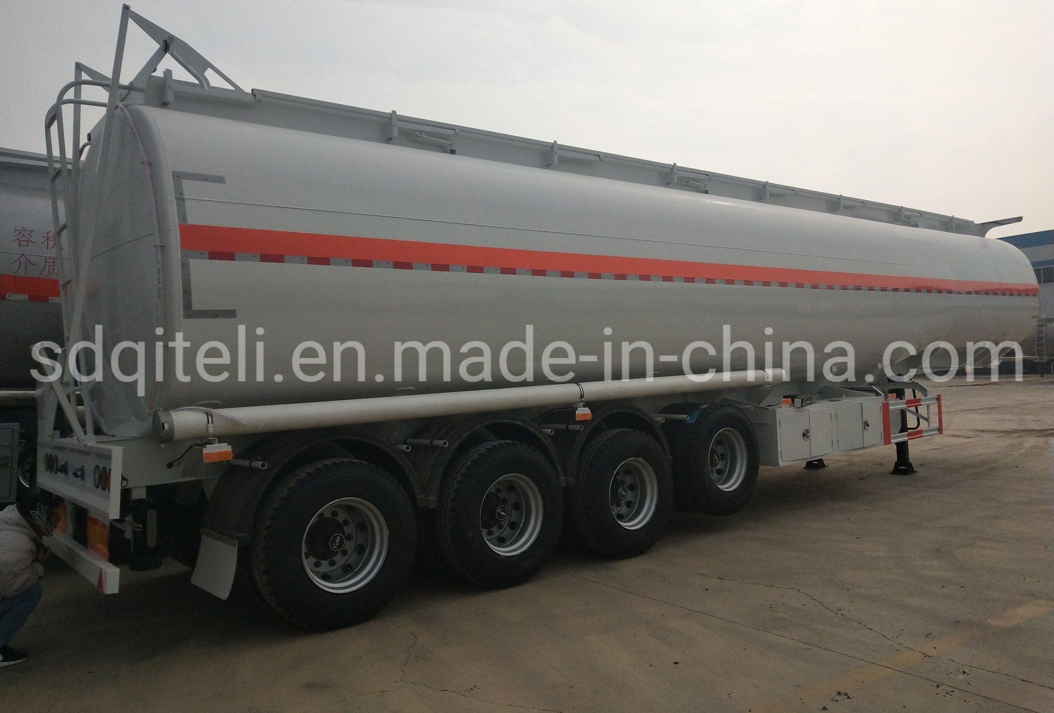 45 kubieke Meter 3 de Semi Aanhangwagen van de Tanker van de Brandstof van het Staal van het Karton van Assen