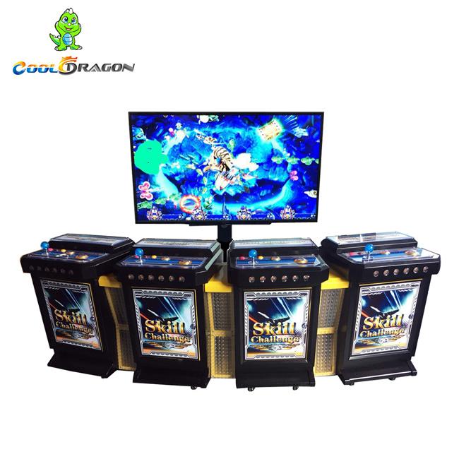 Comercio al por mayor nueva moneda Operted 4 Jugadores cazador de pesca Arcade de mesa de juego Arcade de redención de la máquina la máquina