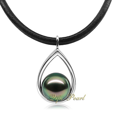 925銀製の宝石類のTahitianの真珠の平野のペンダント