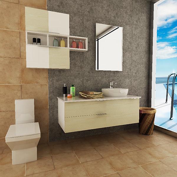 Oppein Australien Form Belüftung Hängende Badezimmer Schrank Eitelkeit  (OPW PVC01)