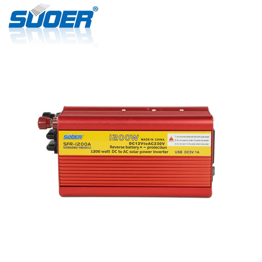 Suoer 12V 220Vの1200Wによって修正される正弦波の太陽エネルギーインバーター