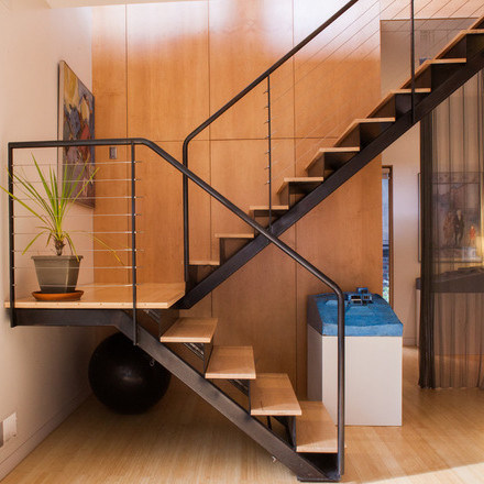 Foto De Hierro Forjado Prefabricadas Escaleras Rectas De