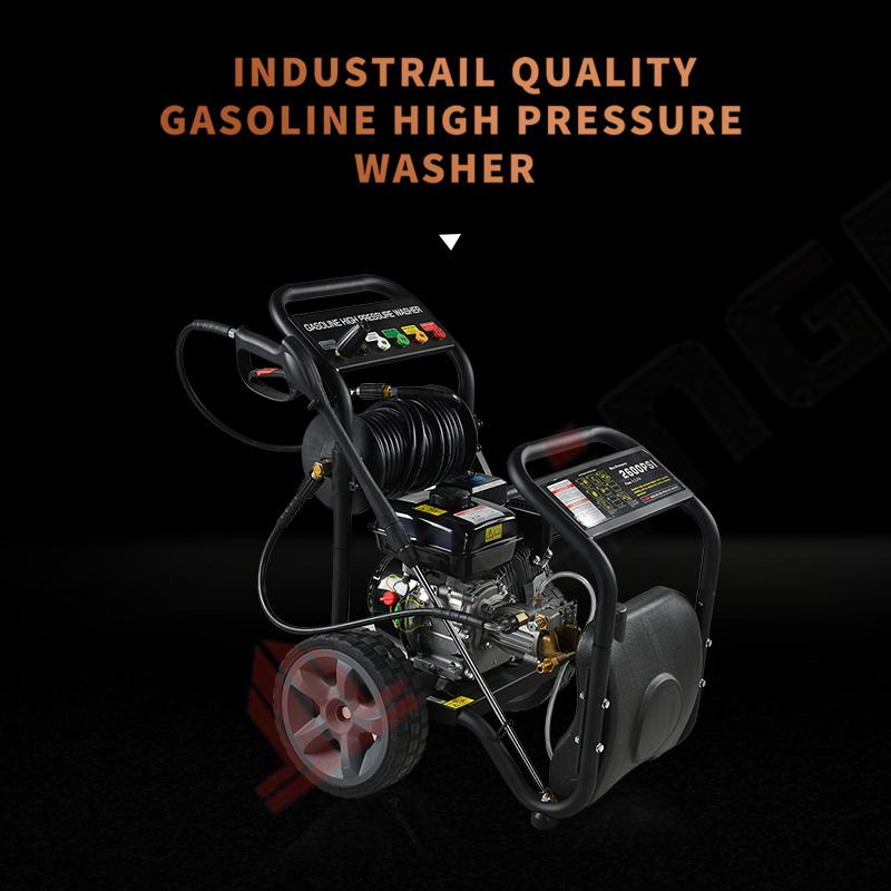 15 lpm benzinemotor Elektrische hogedruk-waterstraalwagen Wasmachinereiniger