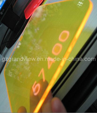 Желтый флуоресцентный глянцевая литой акриловый лист на размещение рекламы