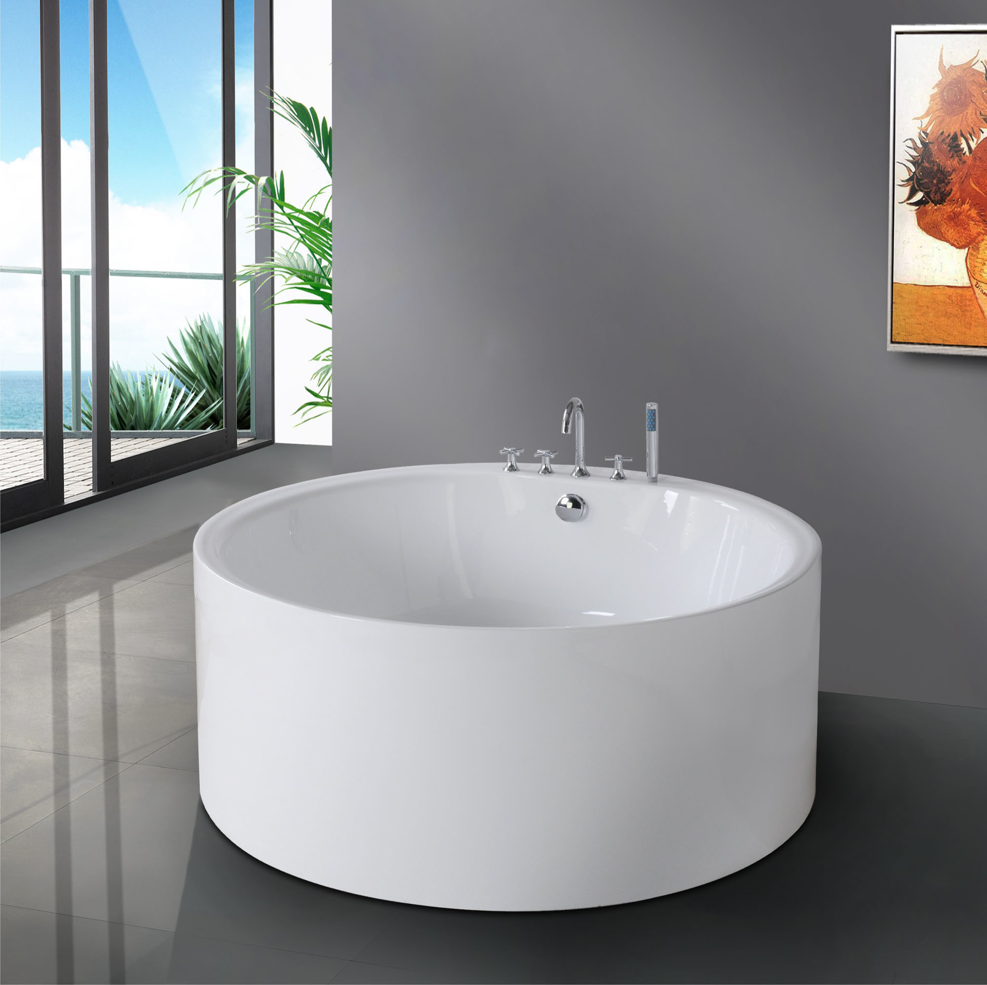 Vasca da bagno rotonda BF-6637 – Vasca da bagno rotonda BF ...