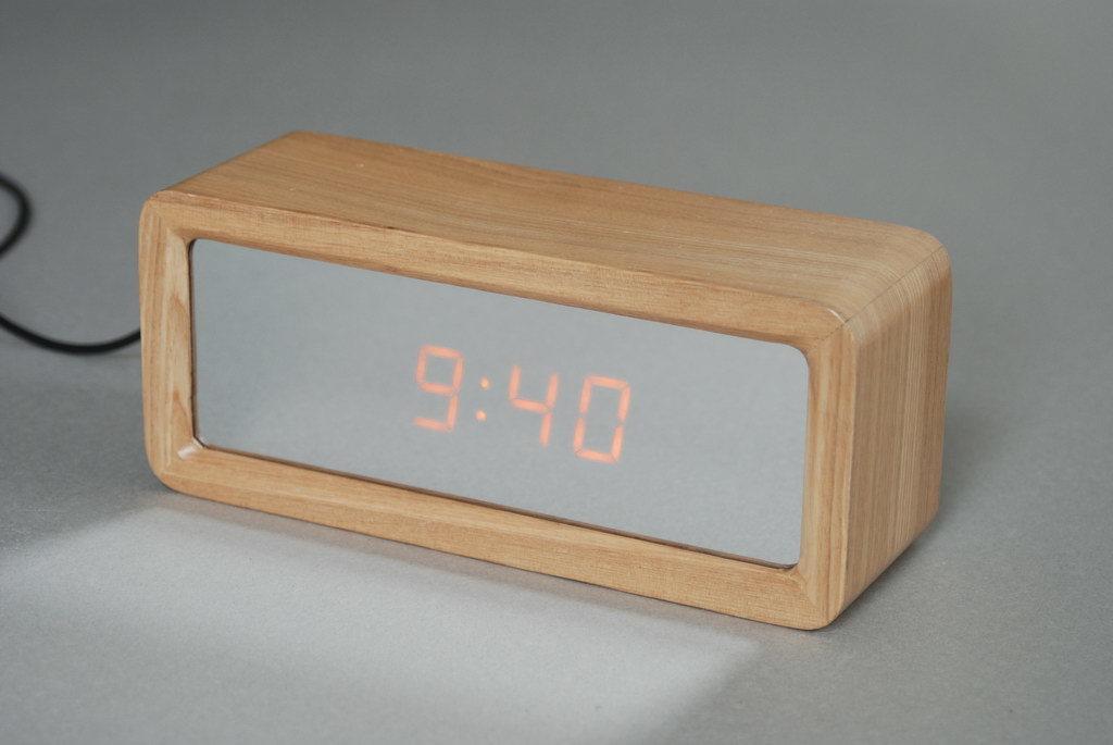 Orologio di specchio di legno del LED (EN1204)