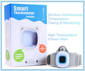 Thermomètre numérique de la température du corps pour bébé avec commande sans fil Bluetooth