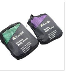 Serviette molle de Microfiber de suède de serviette de sport, serviettes de promotion, sac de mâche