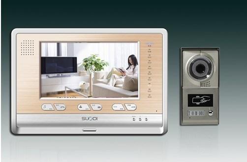 モデルC08E07-1が付いているビデオドアの電話
