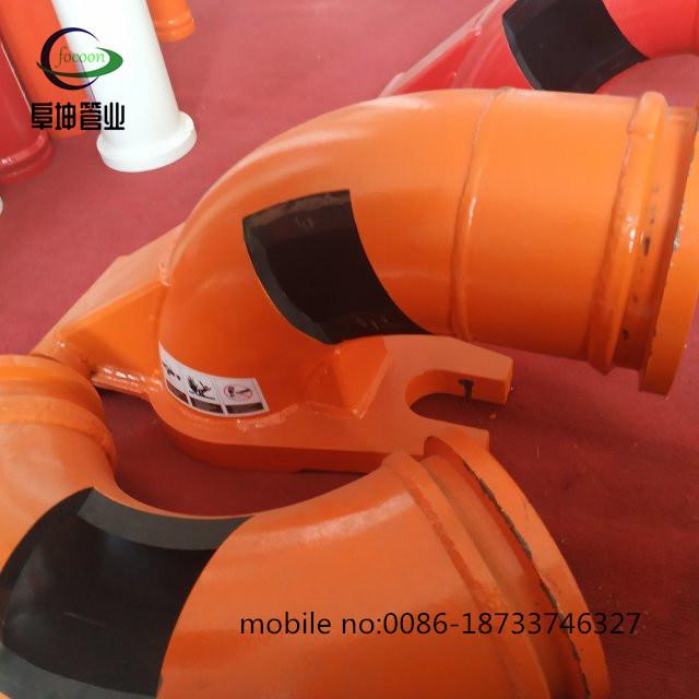 Износ оказывает сопротивление 5 дюйма 90d двойные стены колено используется для конкретных насосы стрелы