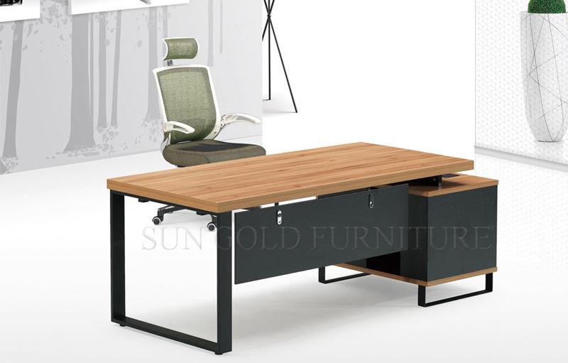 Table en bois meubles de bureau exécutif de dessins et modèles sz