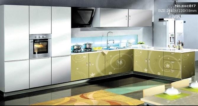 Foto de Conjunto gabinetes de cocina y armario con UV alto brillo de ...
