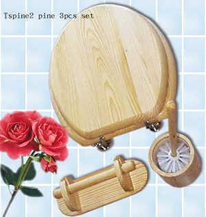 Туалет сиденье - Tspine2 сосновой 3ПК установлен