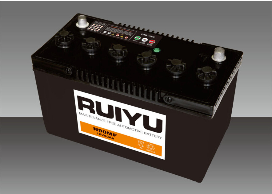 12V 90Ah sellados libres de mantenimiento de la batería de coche