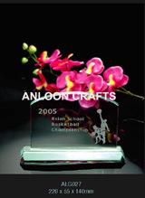 Jade Glass (ALG027) Kristallhandwerk Geschenke Dekorationen Kunst