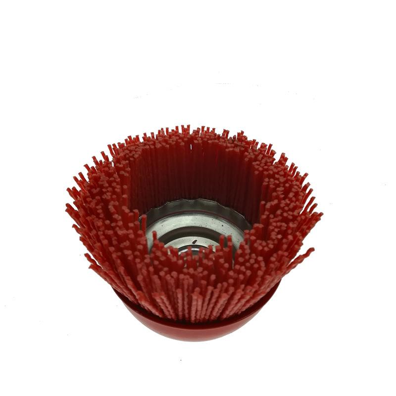 Roter Nylonpinsel-Draht-Cup-Pinsel