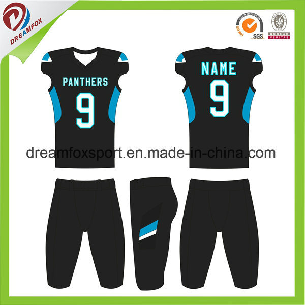 57cfb089caccb Ajuste a seco camisa esportiva camisa futebol americano de sublimação  personalizada