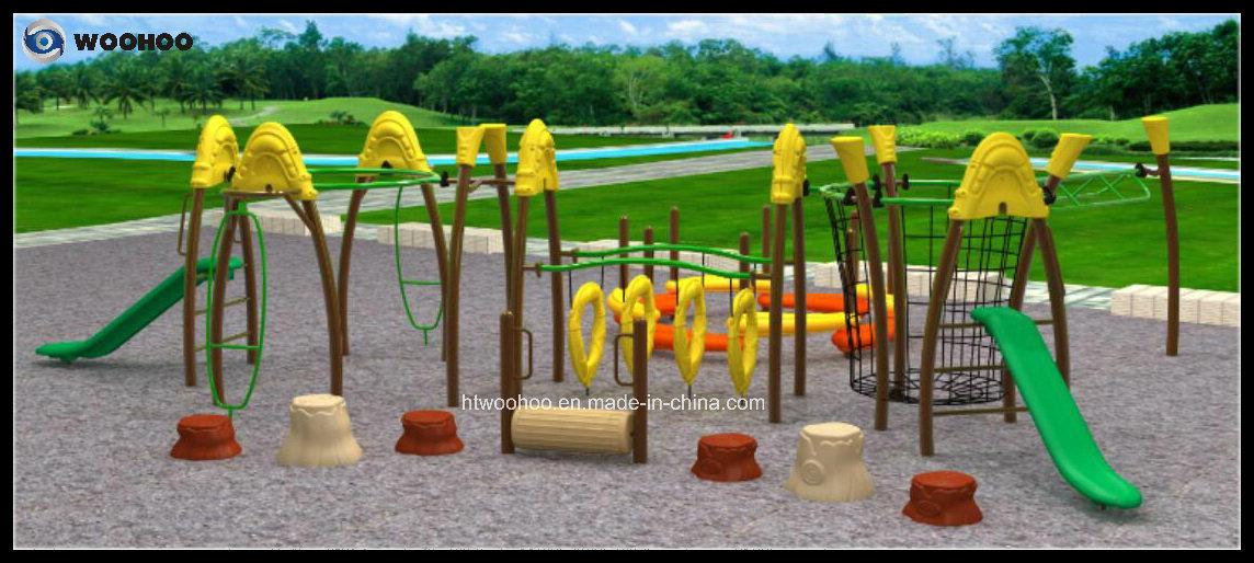 Игровая площадка на открытом воздухе физических упражнений комбинации Enterntament для детей Mode3