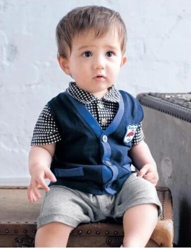 2014 年新しいスタイルの子供服紳士ベビーウェアセット および赤ん坊の Romper