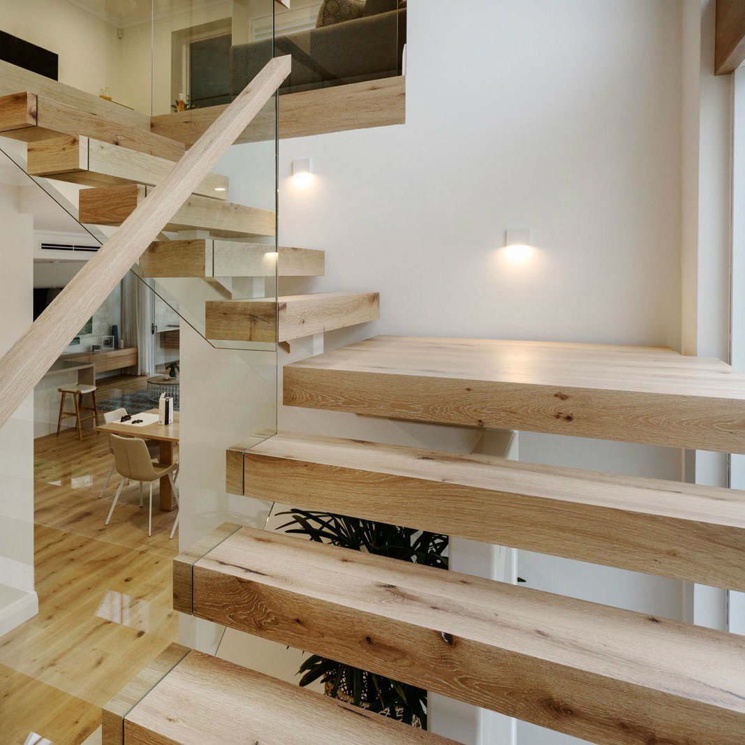 Construire Un Garde Corps En Bois nouveau design moderne en verre balustrade escaliers /verre