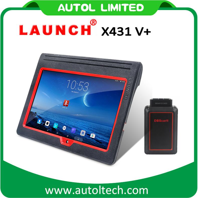Lancement d'origine professionnelle le connecteur X431 V+ WiFi/Bluetooth Scanner complet du système mondial de la version mise à jour gratuite en ligne X-431 V+ X431 V Plus