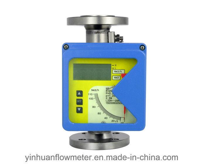 電気遠隔フランジのタイプ金属の管の浮遊物の可変的な領域の流量計を明記するLzdhの機械ポインター