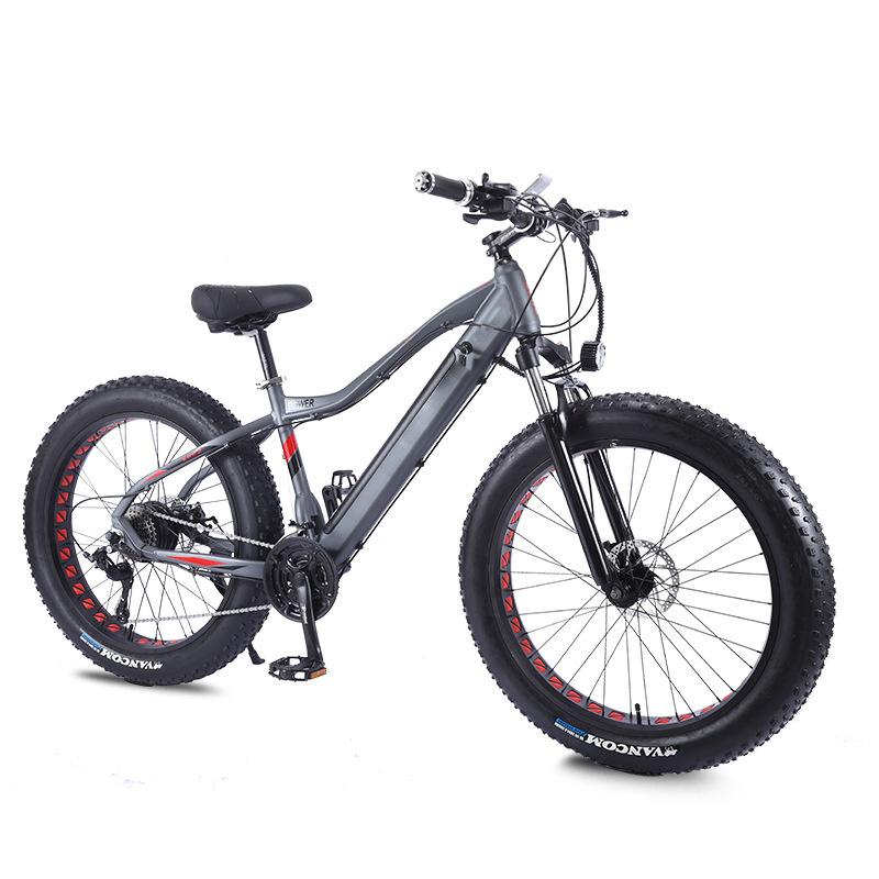 26 inch Fat Tire Foldable City Electric Bike ingebouwde motor Met lithiumbatterij