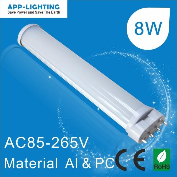 Marcação RoHS LED aprovado 2g11 8W PL de tubo de luz com 2g11