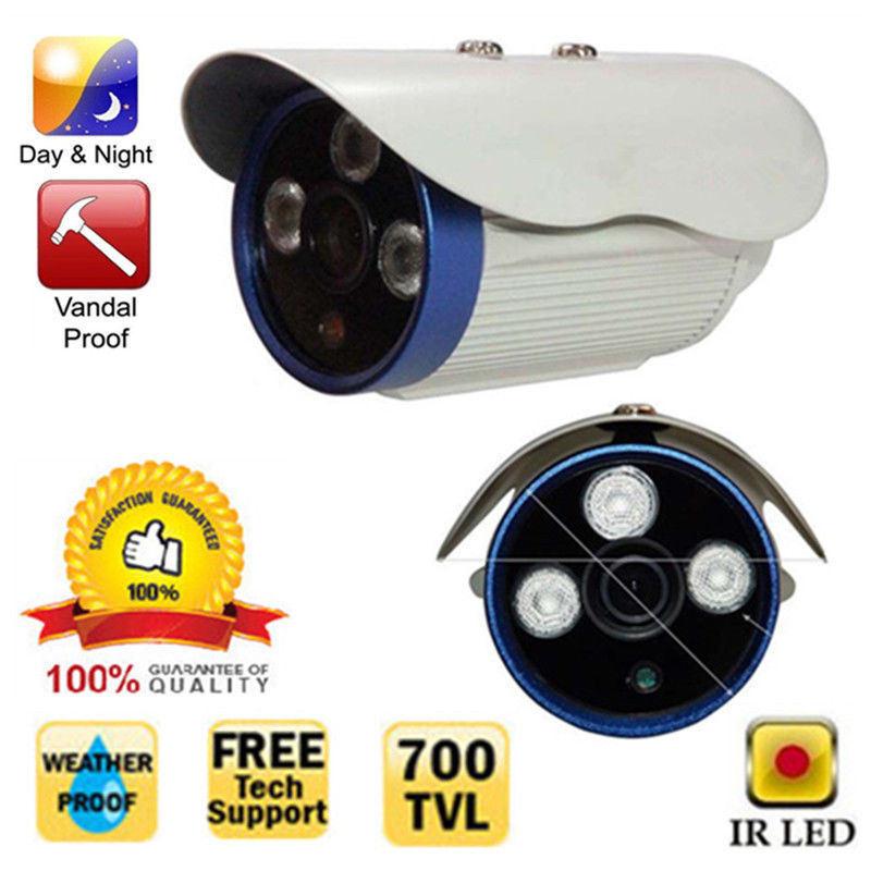 Белый CMOS 700ТВЛ 3 массив инфракрасных светодиодов IR-Cut безопасности водонепроницаемый Bullet открытый Безопасность CCTV камеры наблюдения России 10-15 дней