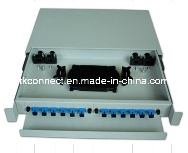 Deslizando 1u 12core/12El puerto de fibra óptica Patch Panel