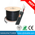 De nieuwe Zwarte 1000FT BulkRg59 Siamese Draad van de Camera van de Veiligheid van kabeltelevisie van de Kabel 20AWG+18/2
