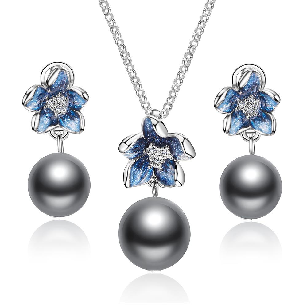 Insieme dei monili della perla della lega della Cina della collana del regalo di compleanno