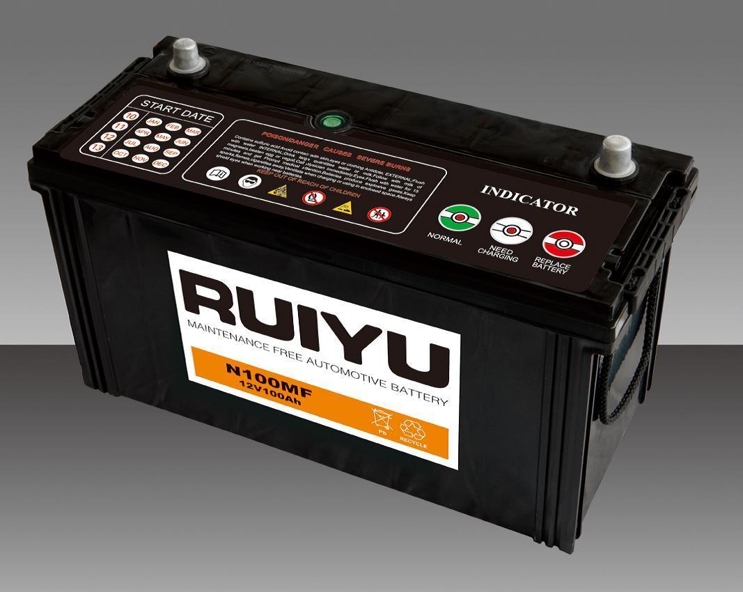 100AH N100 95E41-Mf libres de mantenimiento de la batería de automoción
