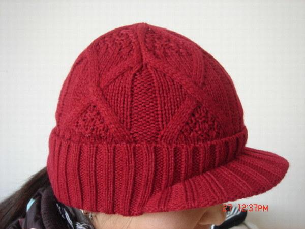 ピーク(GH-005)が付いている編まれた帽子