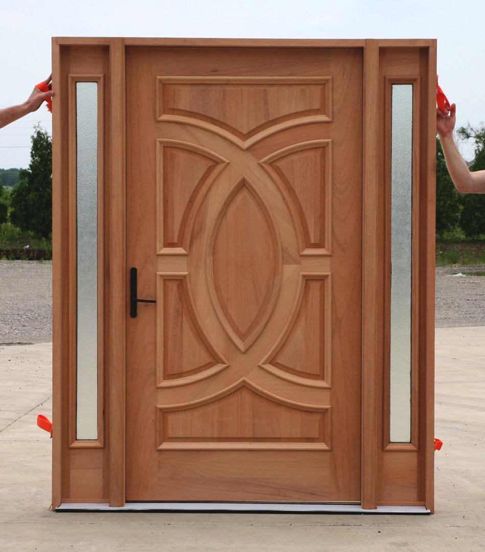 Foto de unfinish tallar puertas de entrada puertas for Puertas de entrada de madera baratas