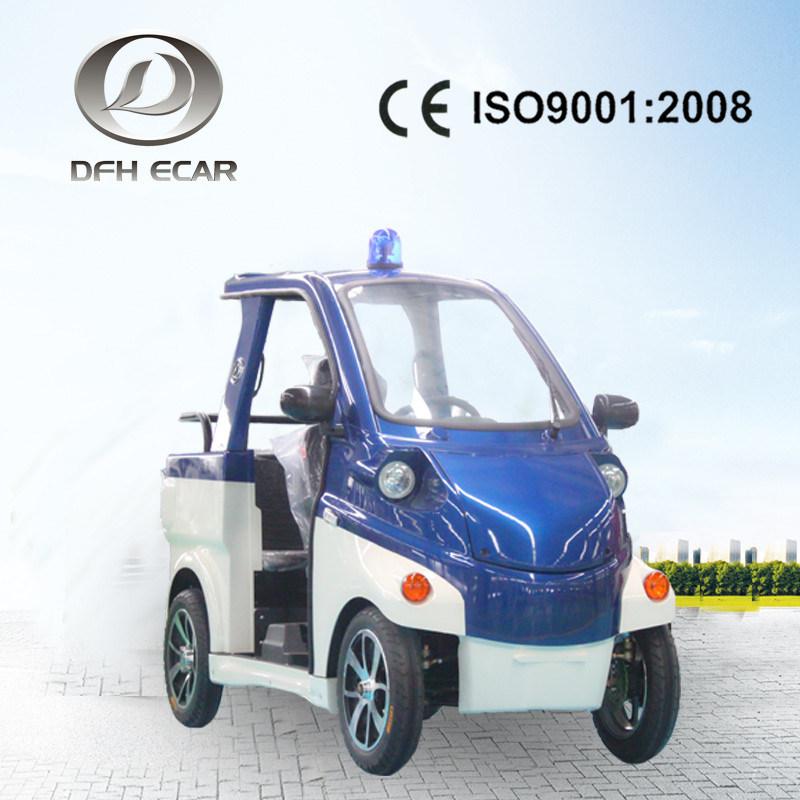 2 Seater weißer elektrischer Streifenwagen 60V/1.1kw
