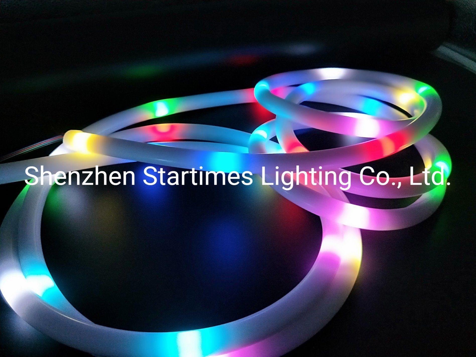 5 anos de garantia de Pixel RGB LED endereçável e silício Grau 360 Faixa de LED Neon Flexível Decoração de Natal da luz de iluminação LED das luzes de LED