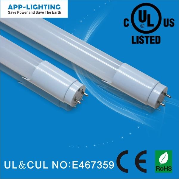 Alta Lumen 1900lm T8 Luz do Tubo de LED, UL TUBO LED fluorescente T8 com 3 a 5 anos de garantia