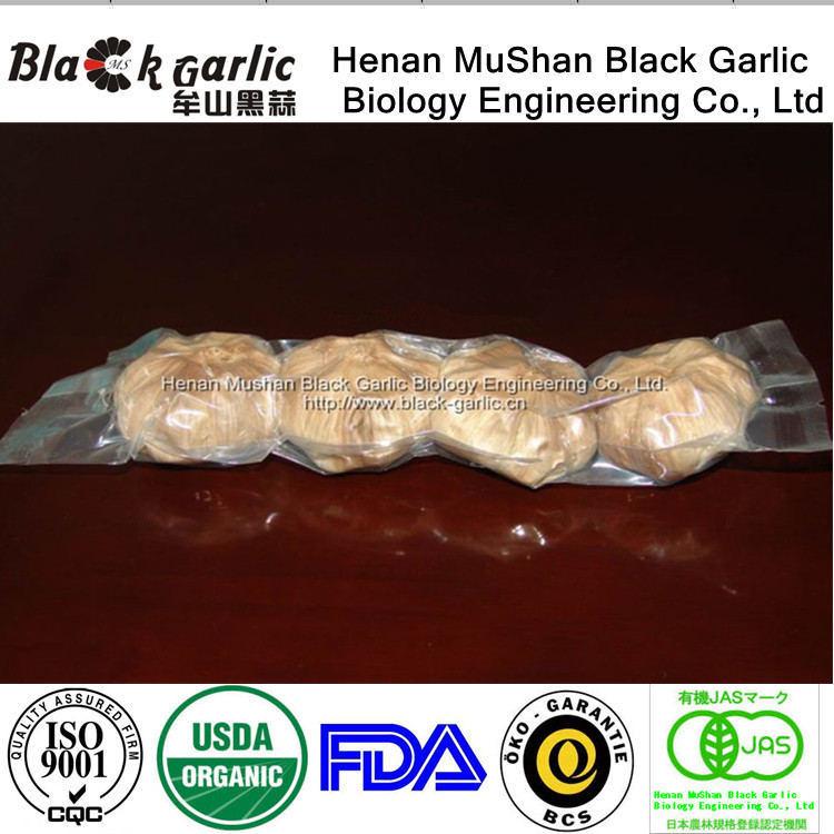 Ficha preta de alho chinês fermentadas 4 lâmpadas de saco Estamos vendas directas de fábrica desde 2007