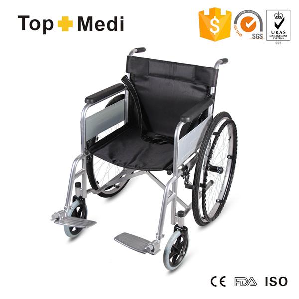 Topmedi Meidcal Equipment Prix A Bas Chaise Roulante En Acier Pliante Lhopital