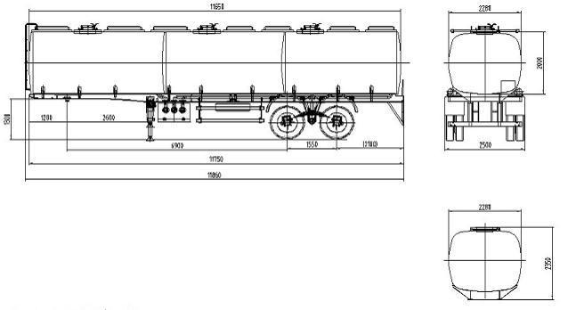 45m3 de la suspension de bogie p trolier wl9290semi trailer ghy 45m3 de la suspension de. Black Bedroom Furniture Sets. Home Design Ideas